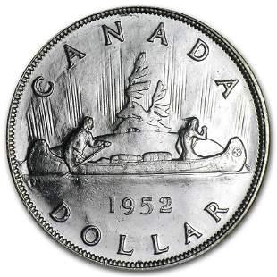 1952 Canada Silver Dollar George VI BU