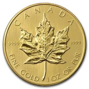 1985 Canada 1 oz Gold Maple Leaf BU