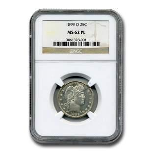 1899-O Barber Quarter MS-62 NGC (PL)