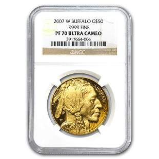 2007-W 1 oz Proof Gold Buffalo PF-70 NGC