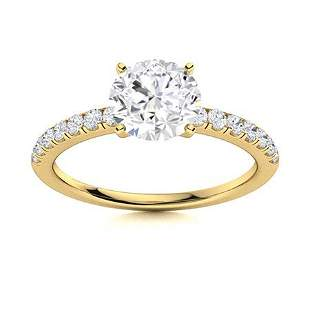 Natural 1.66 CTW Topaz & Diamond Engagement Ring 14K