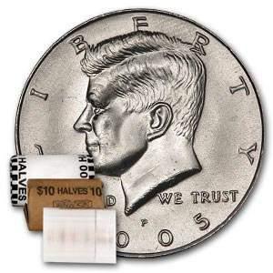 2005-P Kennedy Half Dollar 20-Coin Roll BU