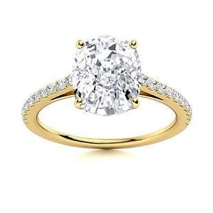 Natural 4.88 CTW Topaz & Diamond Engagement Ring 14K