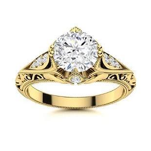 Natural 1.53 CTW Topaz & Diamond Engagement Ring 14K