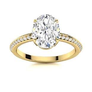 Natural 4.30 CTW Topaz & Diamond Engagement Ring 14K