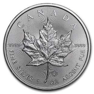2019 Canada 1 oz Silver Maple Leaf BU