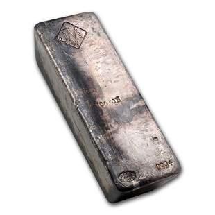 100 oz Silver Bar - Johnson Matthey (No Serial