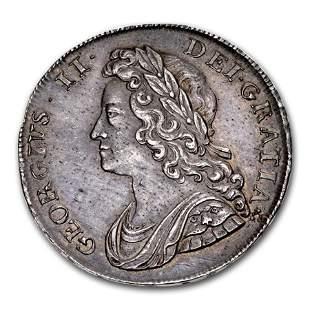 1739 Great Britain Silver Half Crown George II MS-62
