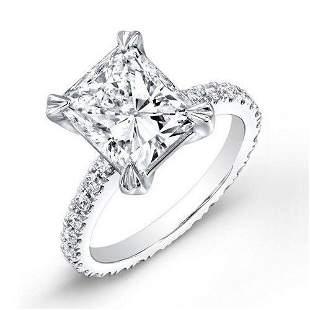 Natural 2.52 CTW Radiant Cut Diamond Engagement Ring