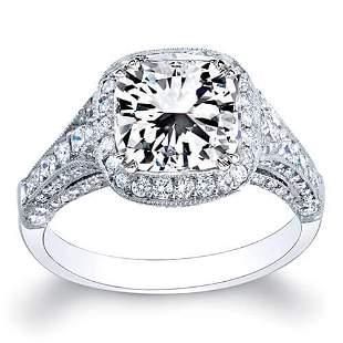 Natural 3.55 CTW Radiant Cut Diamond Engagement Ring
