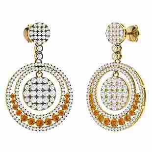 3.23 CTW Citrine Chandelier Earrings 18K Yellow Gold