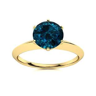 Natural 1.72 CTW Topaz Solitaire Ring 18K Yellow Gold