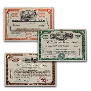 Monopoly Set of Stock Certificates Newer Set Stock