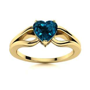 Natural 1.56 CTW Topaz Solitaire Ring 18K Yellow Gold