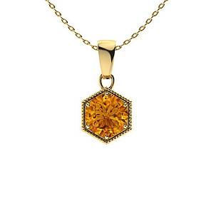 1.22 ctw Citrine Necklace 18K Yellow Gold