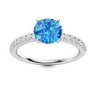 Natural 1.31 CTW Topaz & Diamond Engagement Ring 18K