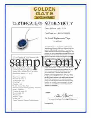 Natural 1.36 CTW Blue & White Diamond Engagement Ring
