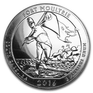 2016 5 oz Silver ATB Fort Moultrie National Monument,