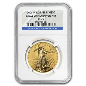 2006-W 1 oz Reverse Proof Gold Eagle PF-70 NGC (20th