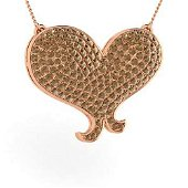 0.4 ctw Brown Diamond Necklace 18K Rose Gold