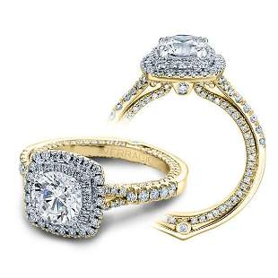 Natural 3.02 CTW Diamond Engagement Halo Ring 18KT