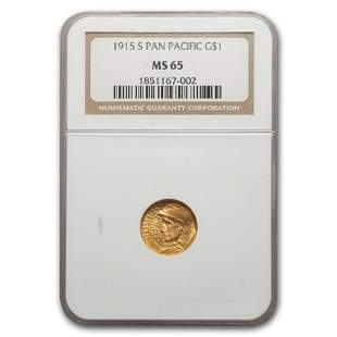 1915-S Gold $1.00 Panama-Pacific MS-65 NGC
