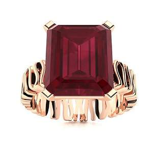 Natural 1.56 CTW Ruby Solitaire Ring 18K Rose Gold