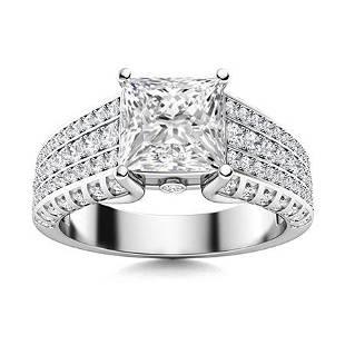 Natural 1.89 CTW Topaz & Diamond Engagement Ring 14K
