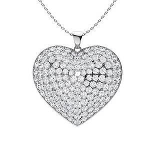 2.3 ctw Diamond Necklace 18K White Gold