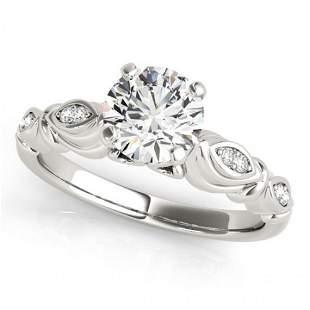 Natural 0.82 ctw Diamond Antique Ring 14k White Gold