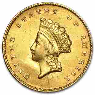 $1 Indian Head Gold Dollar Type 2 (Cleaned)