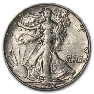 1943-S Walking Liberty Half Dollar AU