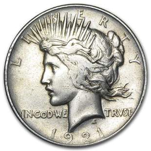 1921 Peace Dollar VG/VF (High Relief)