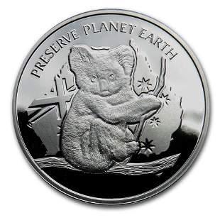 2020 Niue Silver Proof NSW Wildlife Koala Fire Rescue