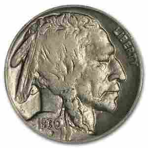 1930 Buffalo Nickel AU