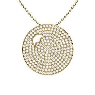 1.1 ctw Diamond Necklace 14K Yellow Gold