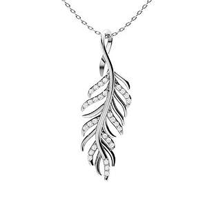 0.16 ctw Diamond Necklace 14K White Gold