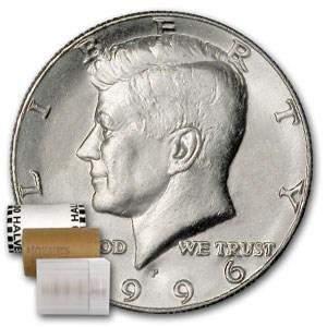 1996-P Kennedy Half Dollar 20-Coin Roll BU
