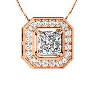 0.88 ctw Topaz & Diamond Necklace 14K Rose Gold