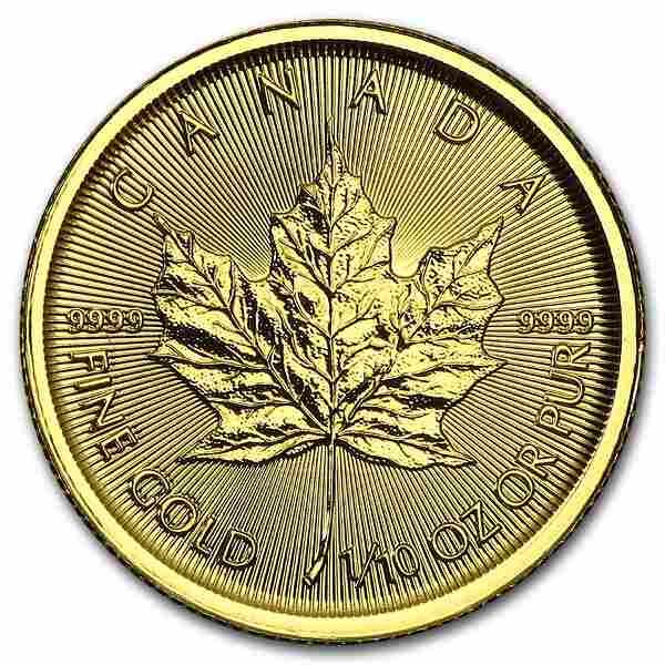 2015 Canada 1/10 oz Gold Maple Leaf BU