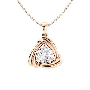 0.47 ctw Diamond Necklace 18K Rose Gold