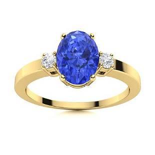 Natural 2.95 CTW Ceylon Sapphire & Diamond Engagement