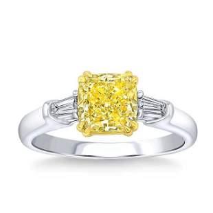 Natural 1.16 CT Diamond Bridal Ring 18K White Gold