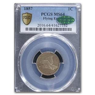 1857 Flying Eagle Cent MS-64 PCGS CAC