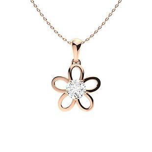 0.62 ctw Diamond Necklace 14K Rose Gold