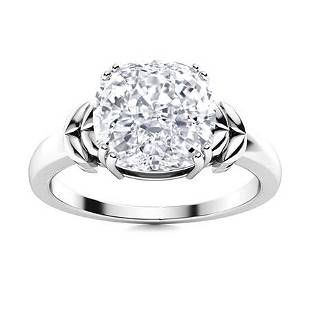 Natural 4.04 CTW Topaz Solitaire Ring 18K White Gold