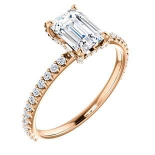Natural 1.42 CTW Diamond Basket Emerald Cut Diamond
