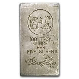 100 oz Silver Bar - SilverTowne (Poured)