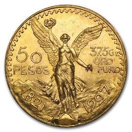 1927 Mexico Gold 50 Pesos BU