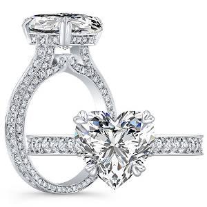 Natural 2.62 CTW Heart Shape Diamond Engagement Ring